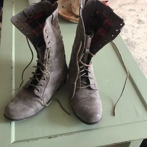 Madden Girl Combat-styled Boots